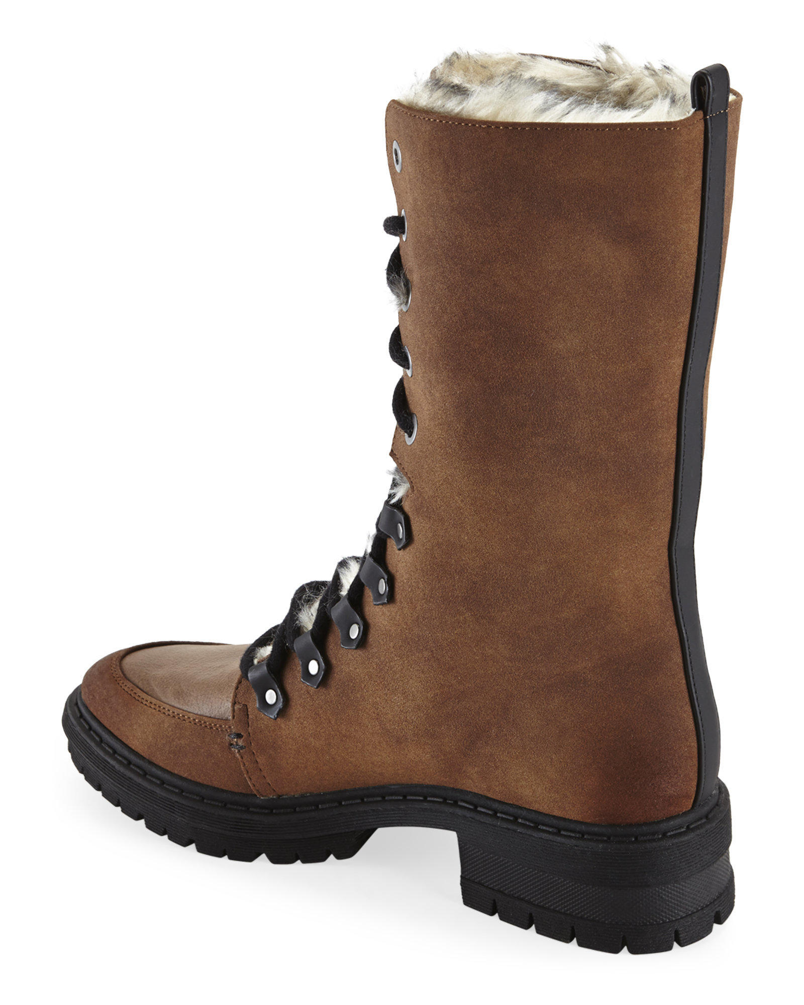 4a8496083529 Lyst - Circus by Sam Edelman Saddle Liam Faux Fur-Lined Lace Boots