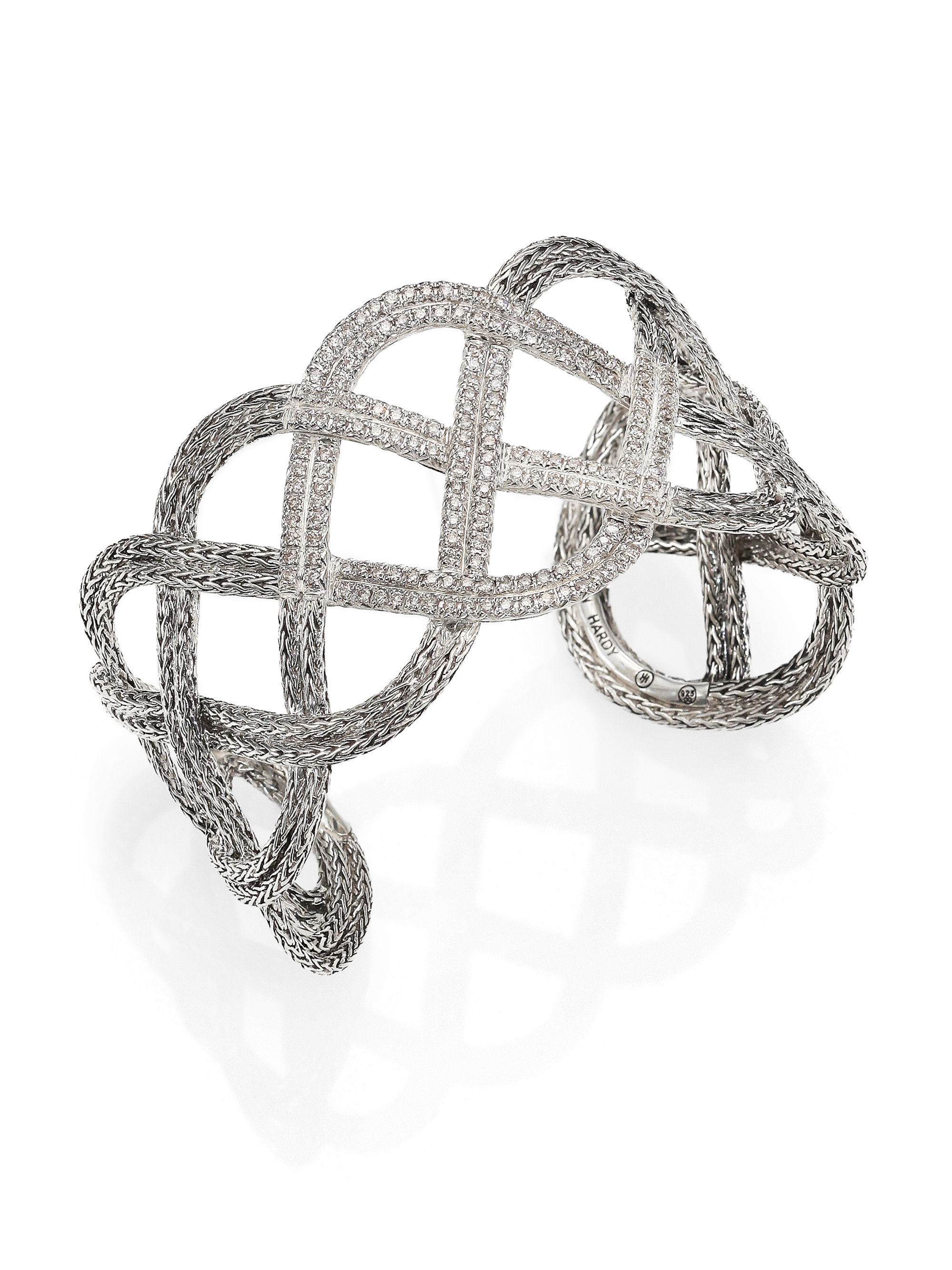 John Hardy Classic Chain Diamond Sterling Silver Double