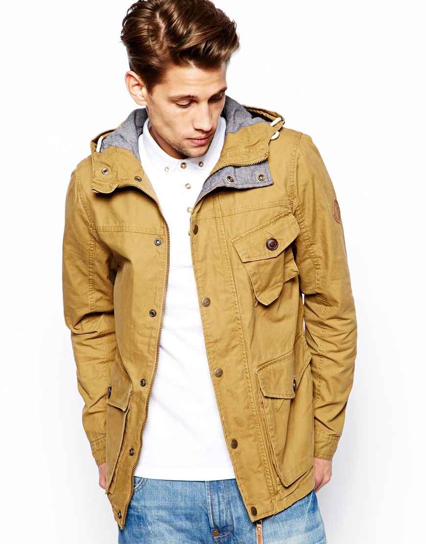 Lyst - Pull&bear Lightweight Jacket with Hood in Natural for Men