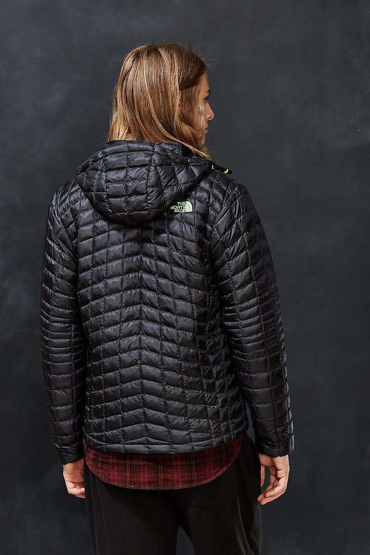 the north face thermoball hoodie jacket in gray for men lyst. Black Bedroom Furniture Sets. Home Design Ideas
