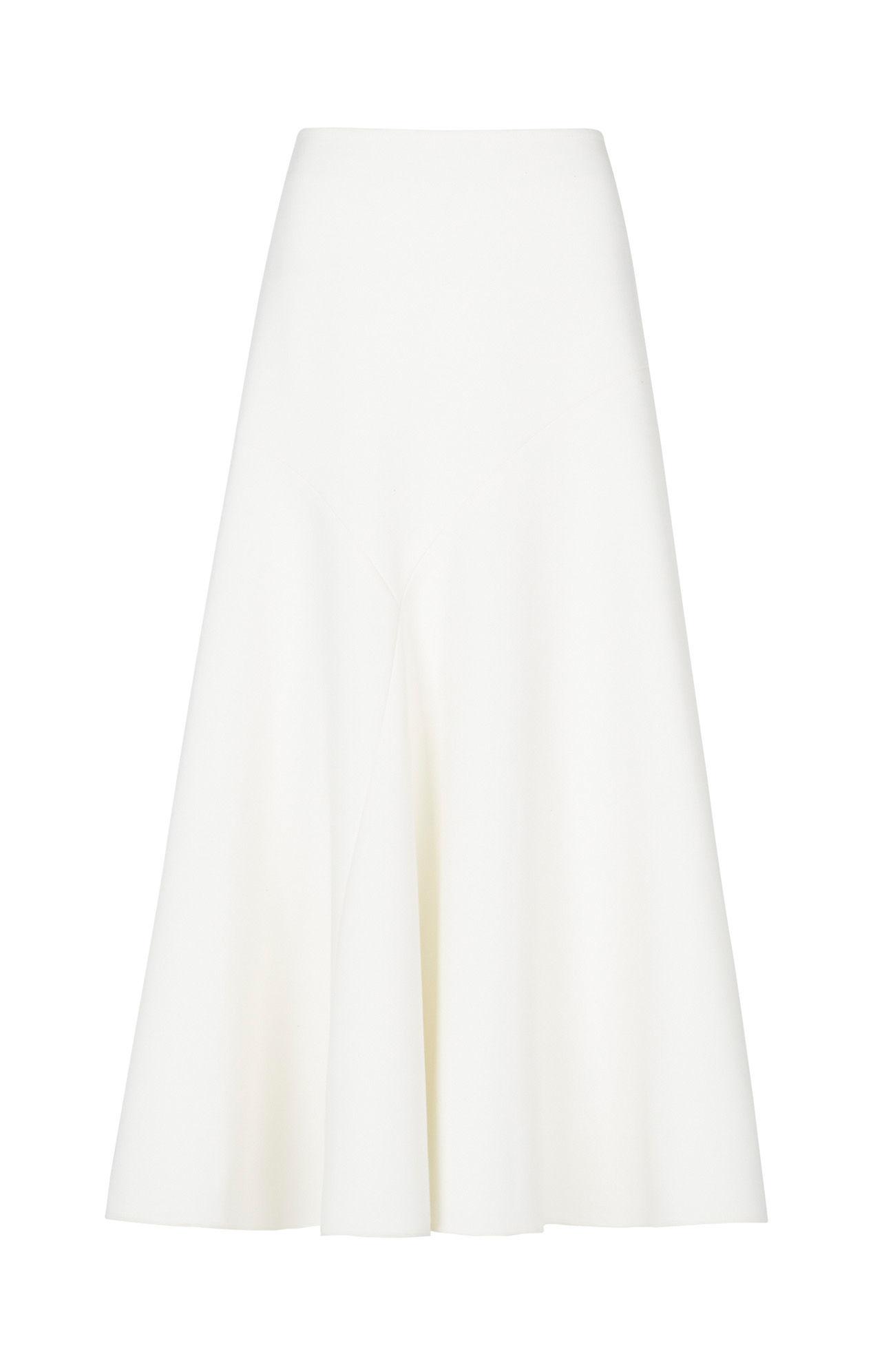 Bcbgmaxazria Sacha Asymmetrical Maxi Skirt in White | Lyst