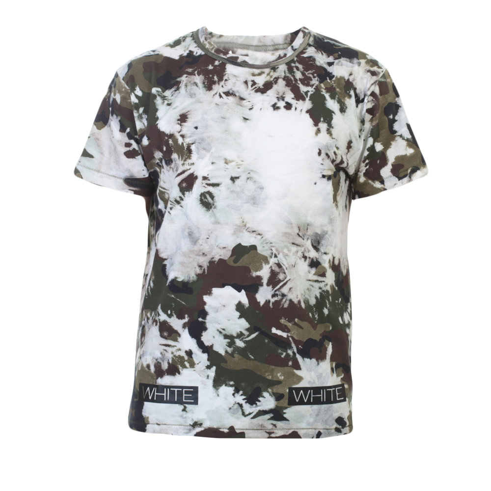 Lyst off white c o virgil abloh camouflage print t shirt for Camouflage t shirt printing
