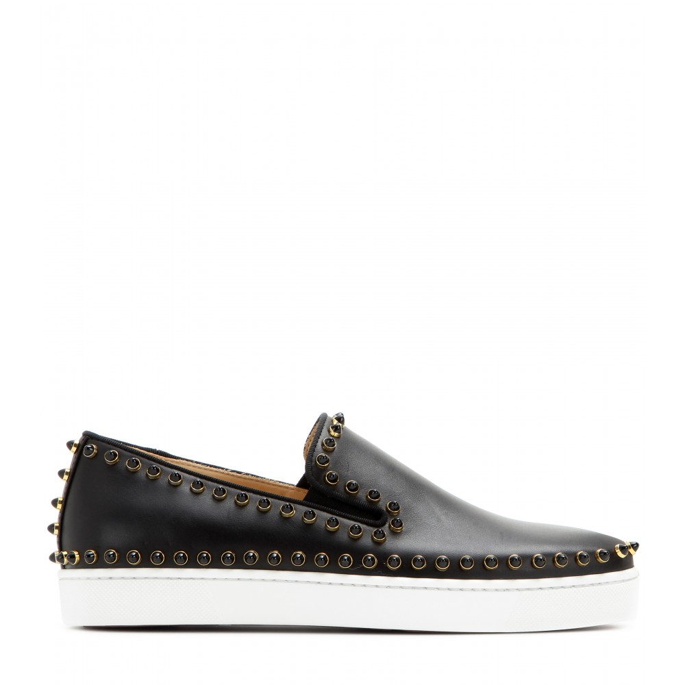 christian louboutin pik boat slip on sneakers christian louboutin mens sneakers sale. Black Bedroom Furniture Sets. Home Design Ideas
