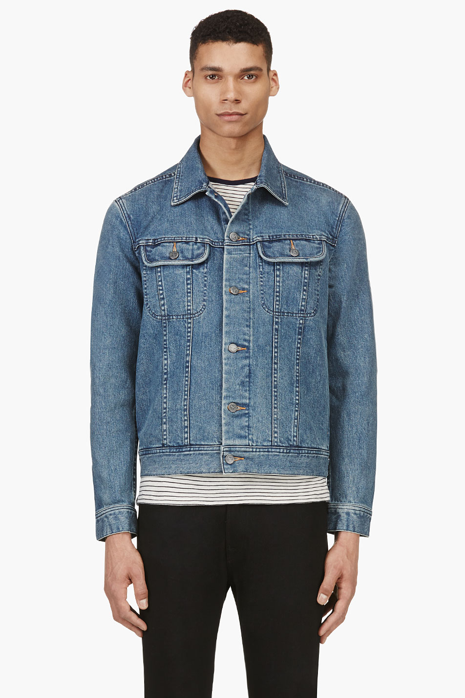 A.p.c. Indigo Classic Denim Jacket in Blue for Men | Lyst