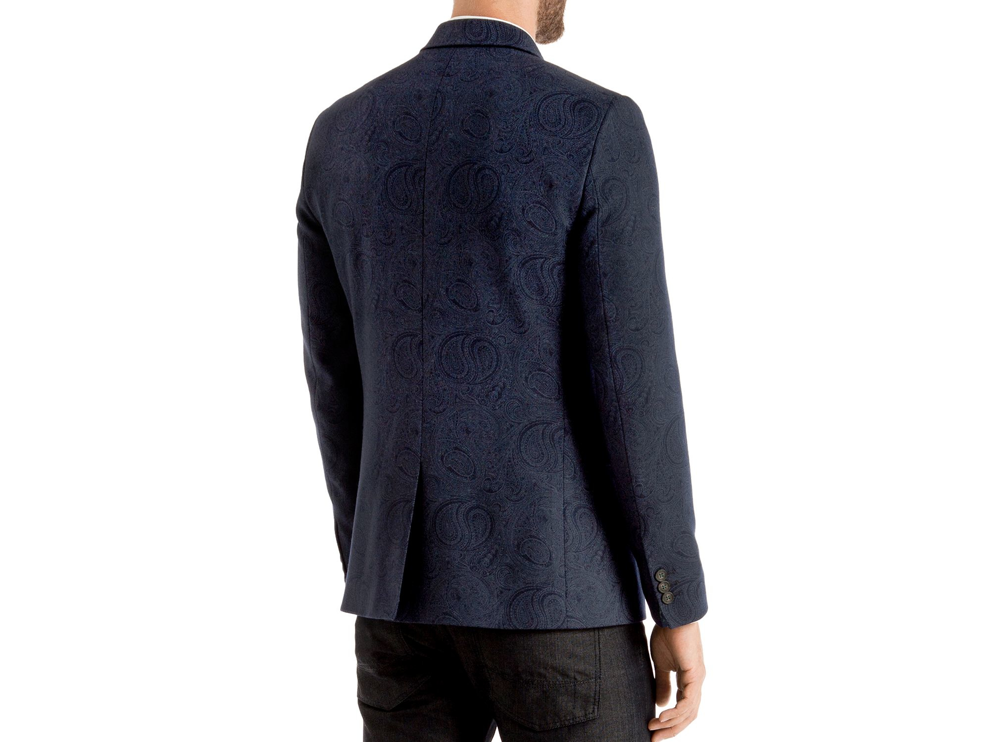 9217b52133f18a Lyst - Ted Baker Hiko Paisley Regular Fit Blazer in Blue for Men