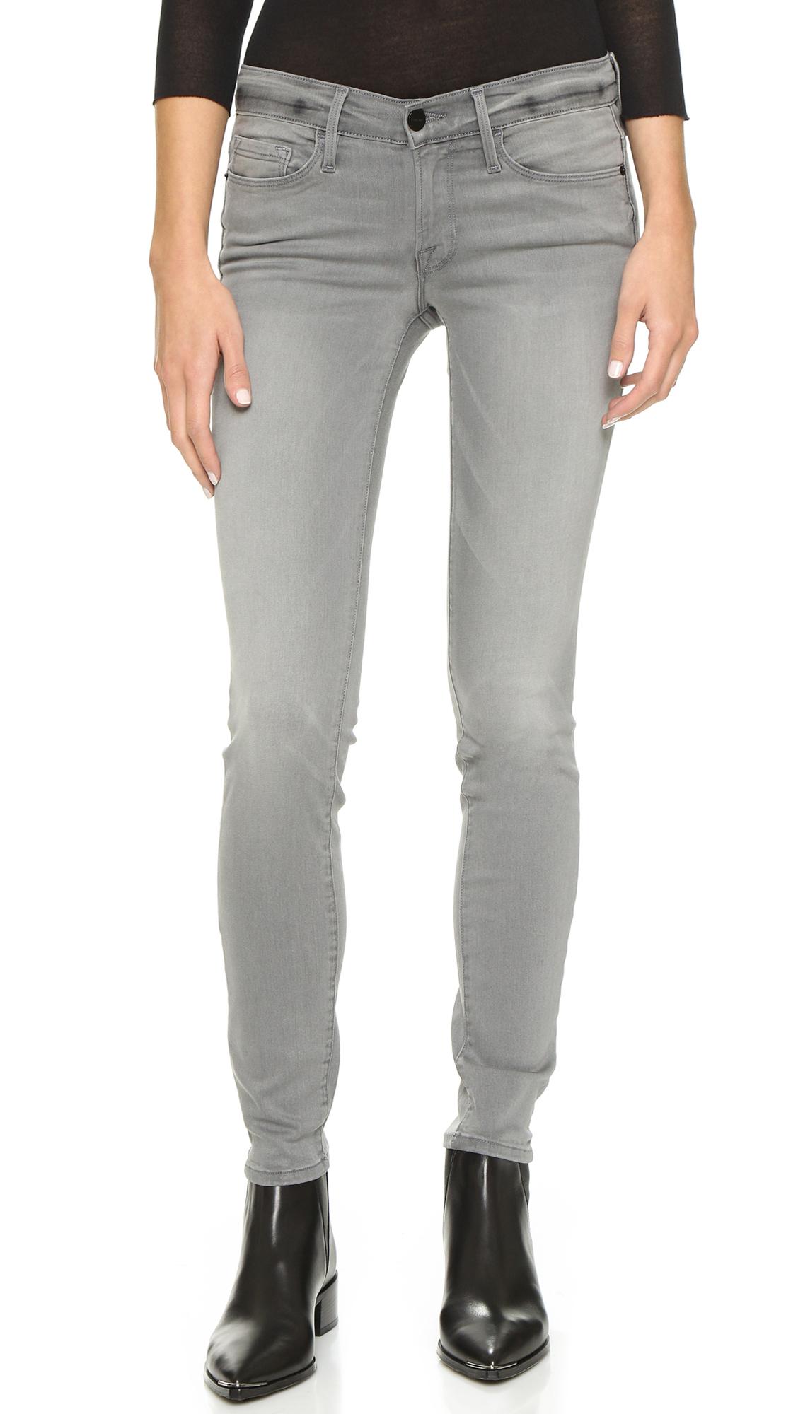 Lyst - Frame Le Skinny De Jeanne Jeans - Russo in Gray
