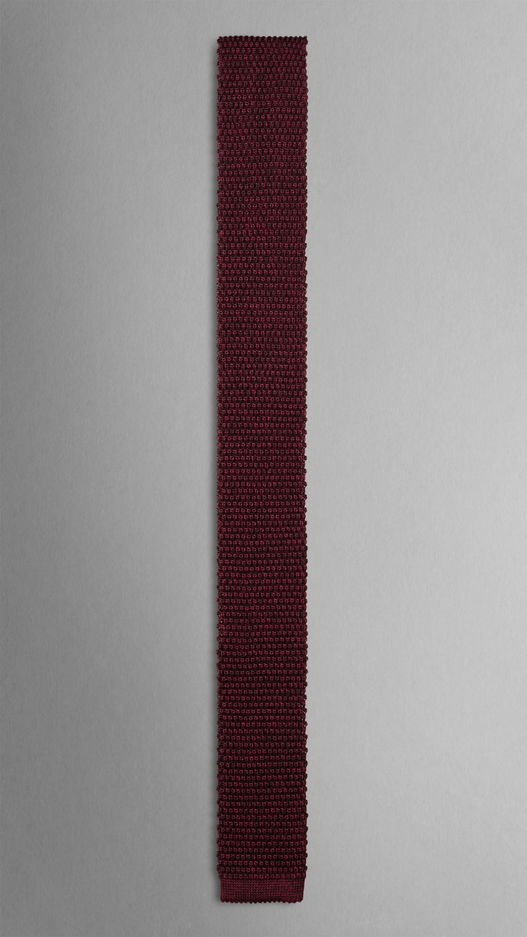 3a80be456266 ... coupon for lyst burberry knitted silk tie in red for men 43550 39c6f ...