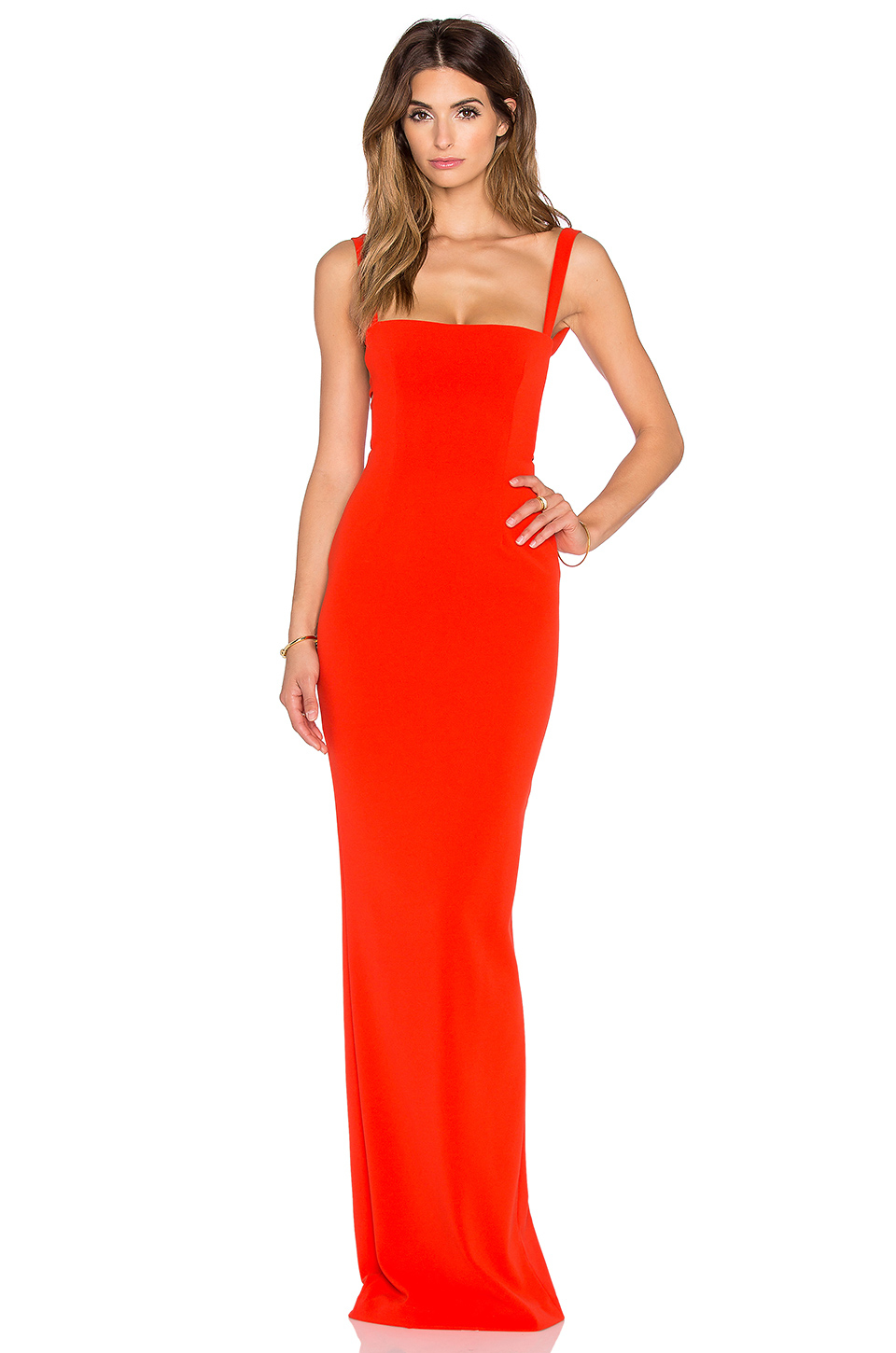 Solace London Crockett Open Back Maxi Dress In Orange Lyst