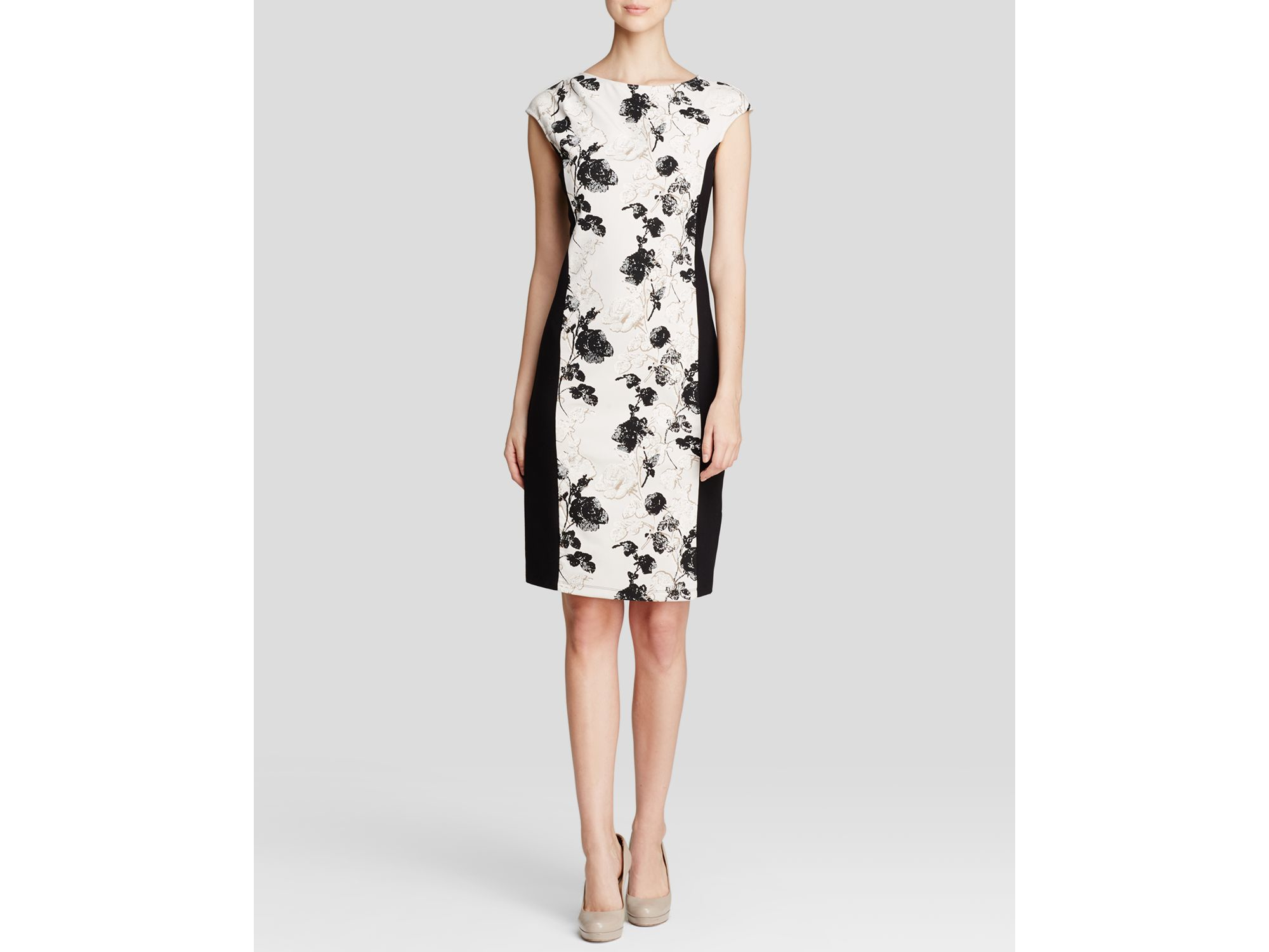 668183666e Weekend by Maxmara Dress - Fionda Stretch Floral Print in Natural - Lyst