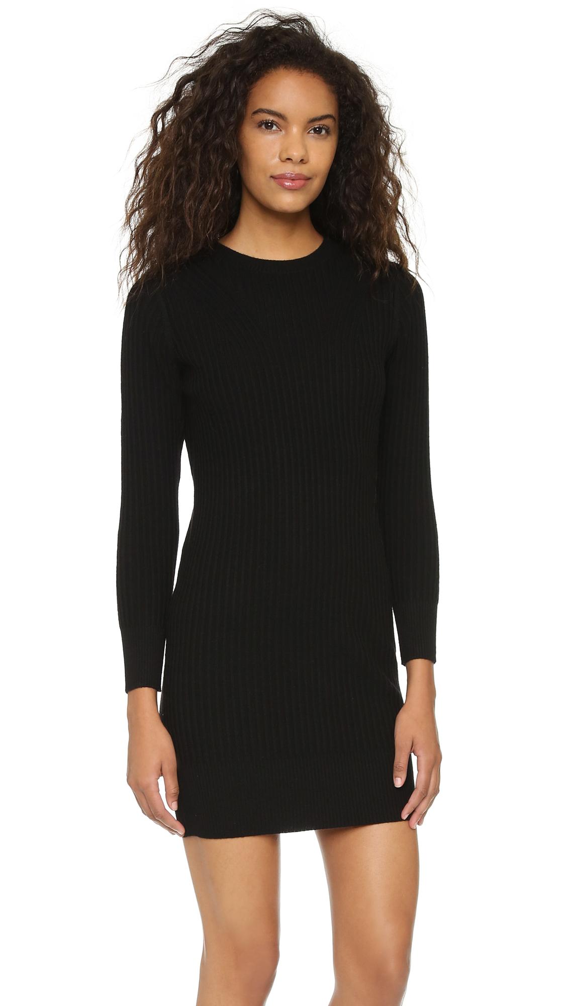 club monaco nescher sweater dress  soot black  lyst