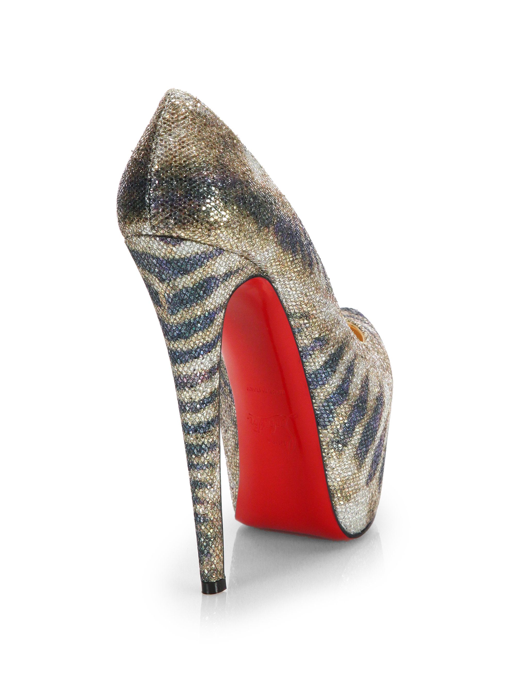 christian louboutin jewel embellished slingback pumps