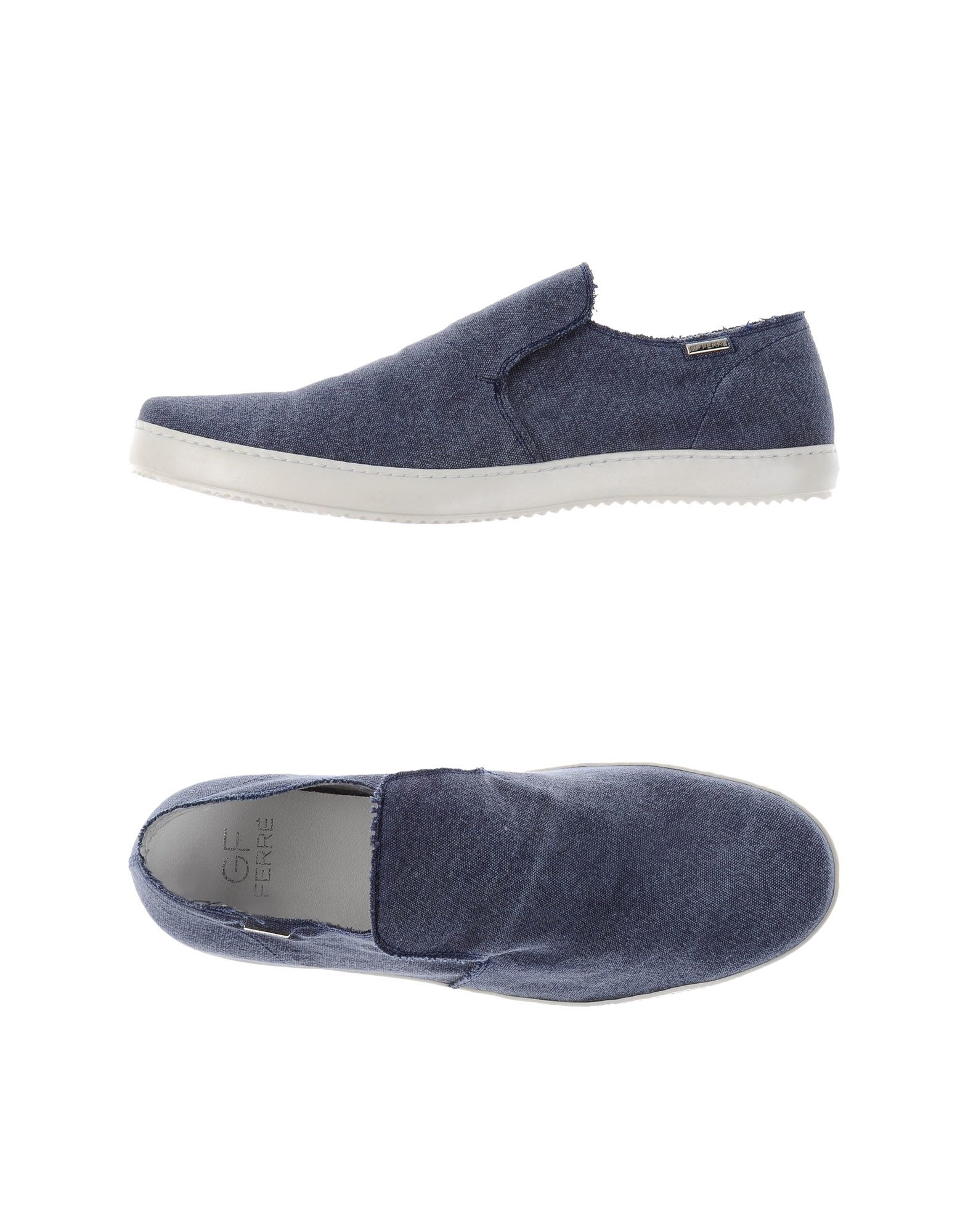 gianfranco ferr 233 moccasins in blue for lyst