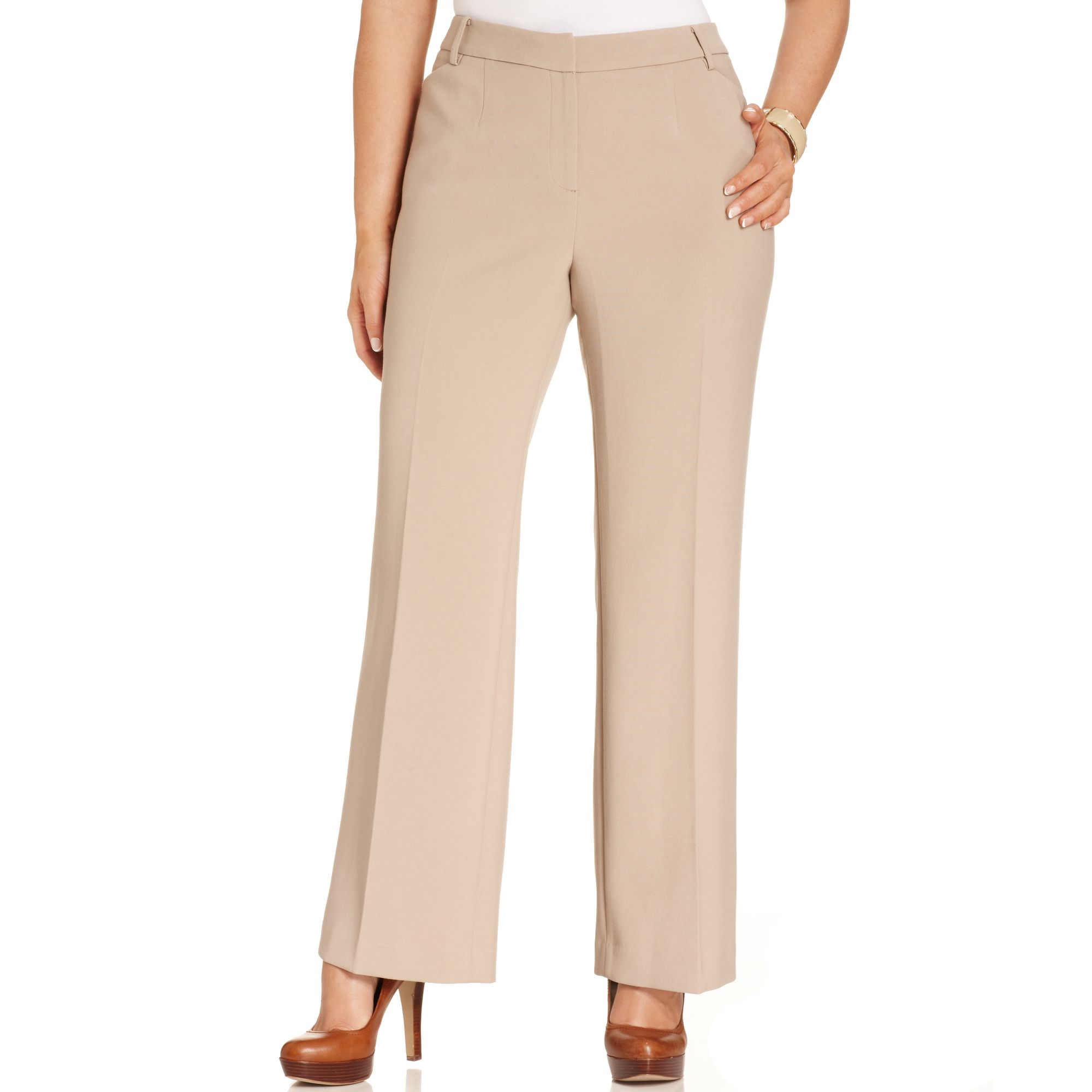 0f5f023a582a4 Lyst - Jones New York Collection Plus Size Modern Fit Wideleg Pants ...