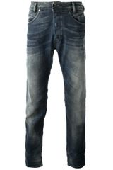 Diesel Distressed Straight Leg Jean - Lyst