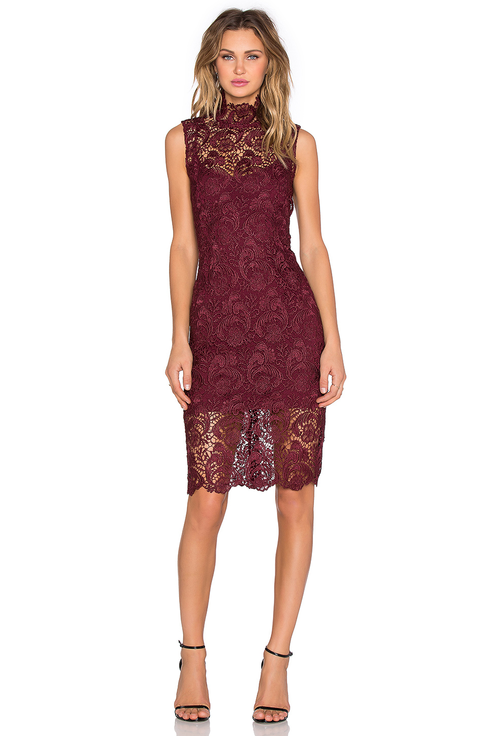 High neck lace dress blaque label dresses