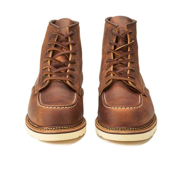 Red wing Men's 6 Inch Moc Toe Double Welt Leather Lace Up Boots in ...