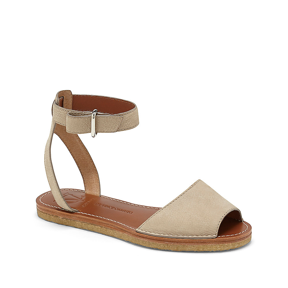 ae289dd0ee Vince Camuto Vc Signature Madalin - Peep-Toe Flat Sandal in Natural ...