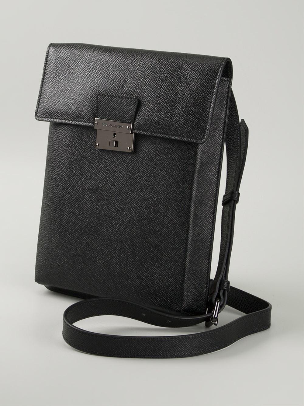 Burberry Collins Shoulder Bag In Black For Men Lyst