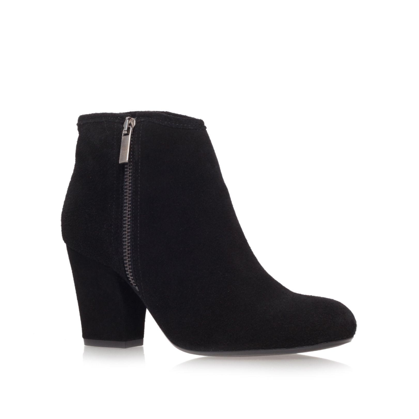 carvela kurt geiger mid heel ankle boots in black lyst
