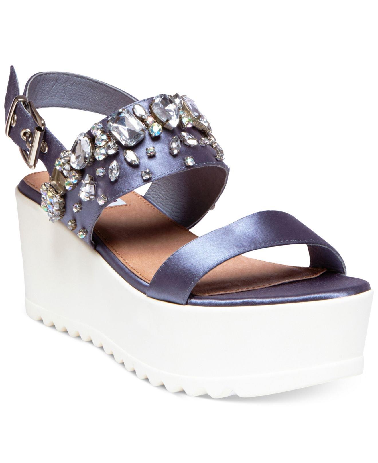 fe221a69871 Lyst - Steve Madden By Iggy Azalea Ono Bling Flatform Wedge Sandals ...