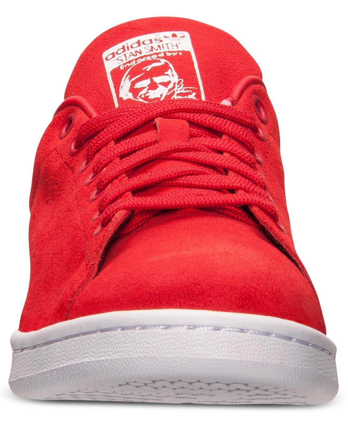Adidas Originals Stan Smith Suede Red White