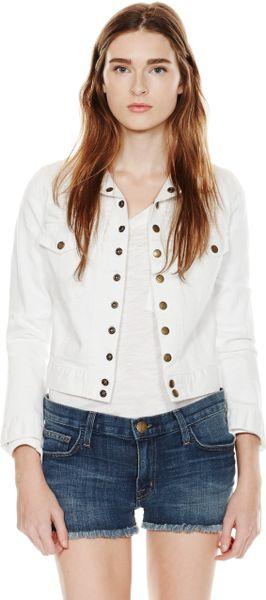 Current/elliott The Snap Jacket in White (SUGAR)