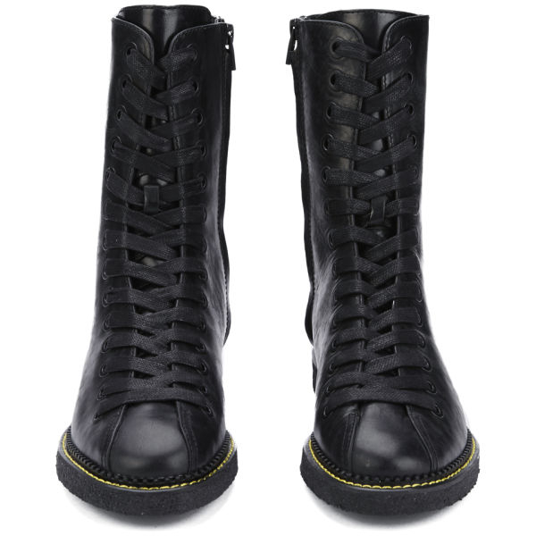 Alexander wang Women's Emmanuel Leather Lace Up Boots in Black | Lyst