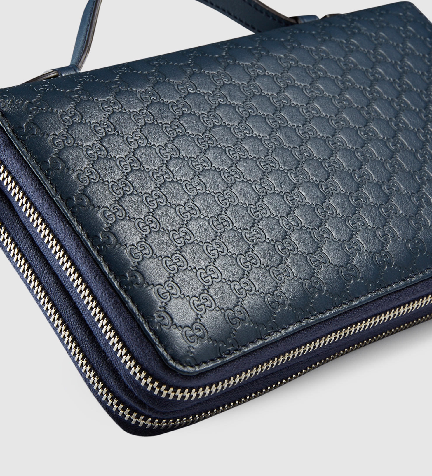 69f26ee0 Gucci Microssima Leather Travel Document Case in Blue for Men - Lyst