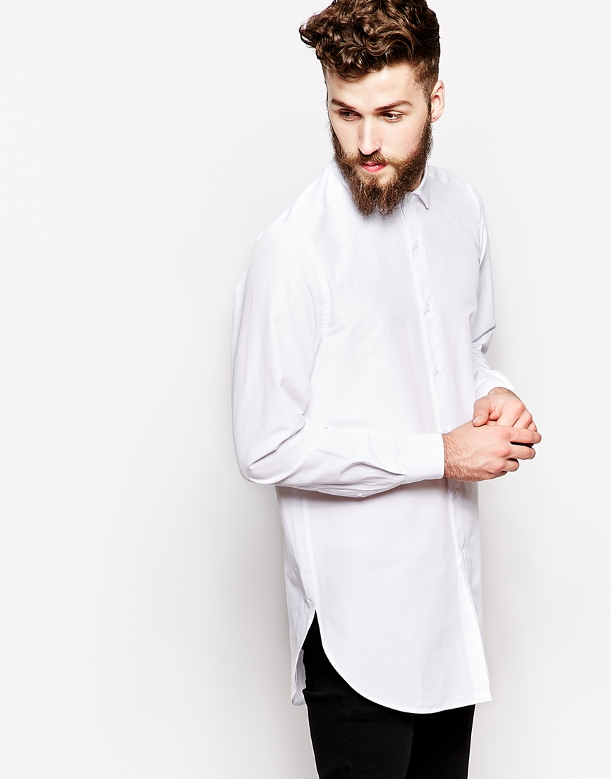 Mens long white shirt shirts rock Mens long sleeve white t shirt