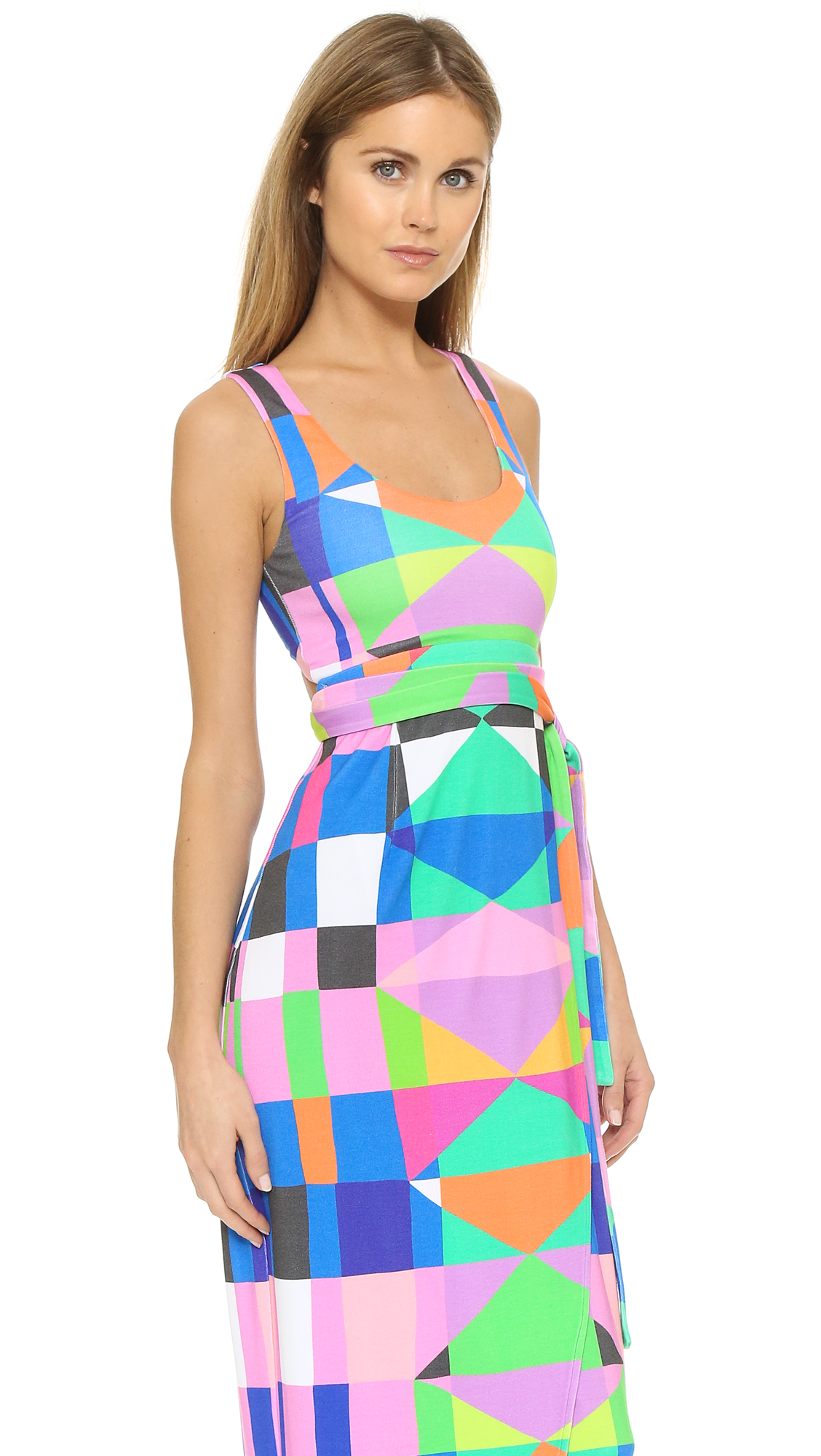 Lyst Mara Hoffman Back Cutout Wrap Dress In Pink