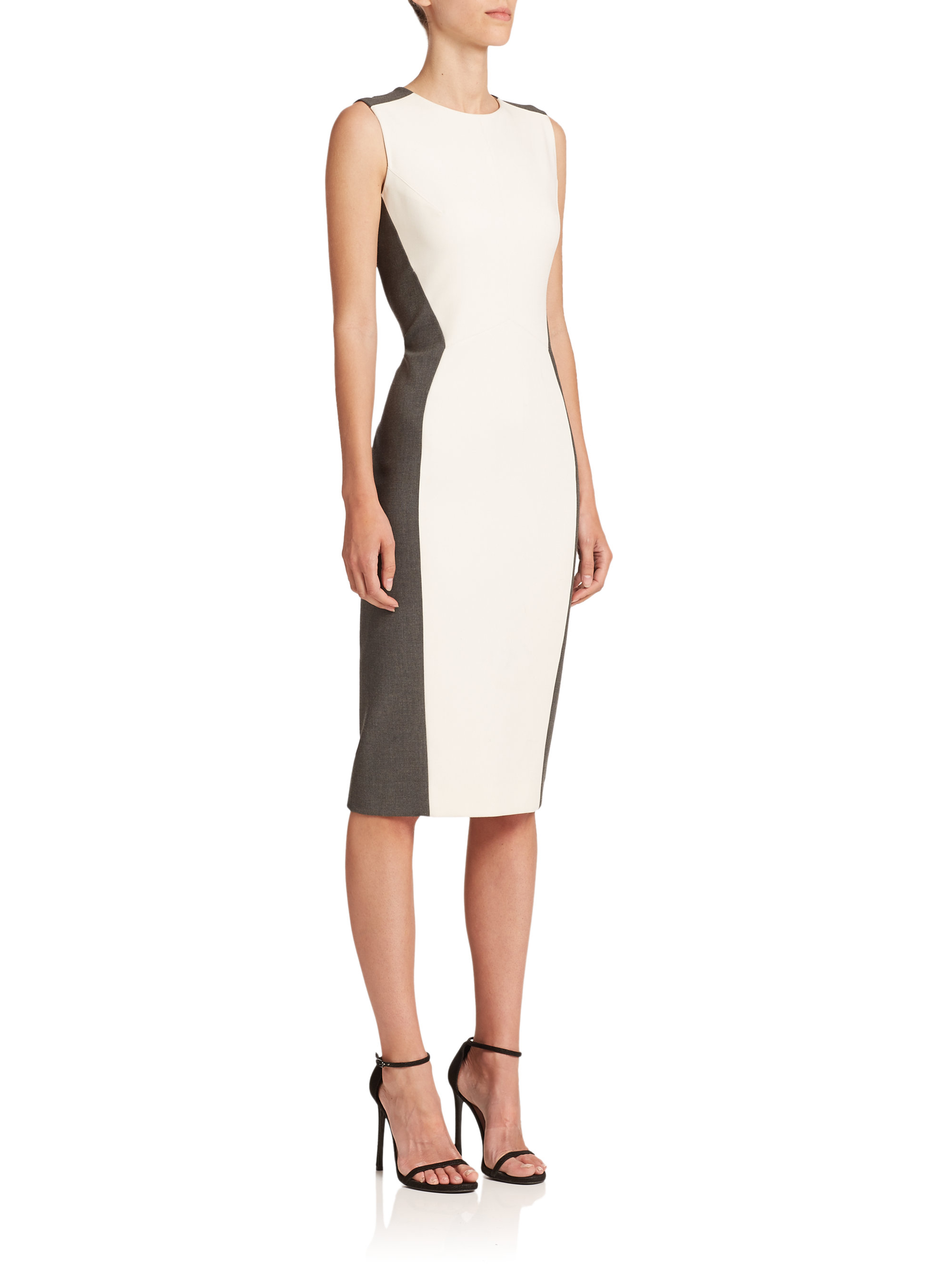 Color blocked sheath dresses