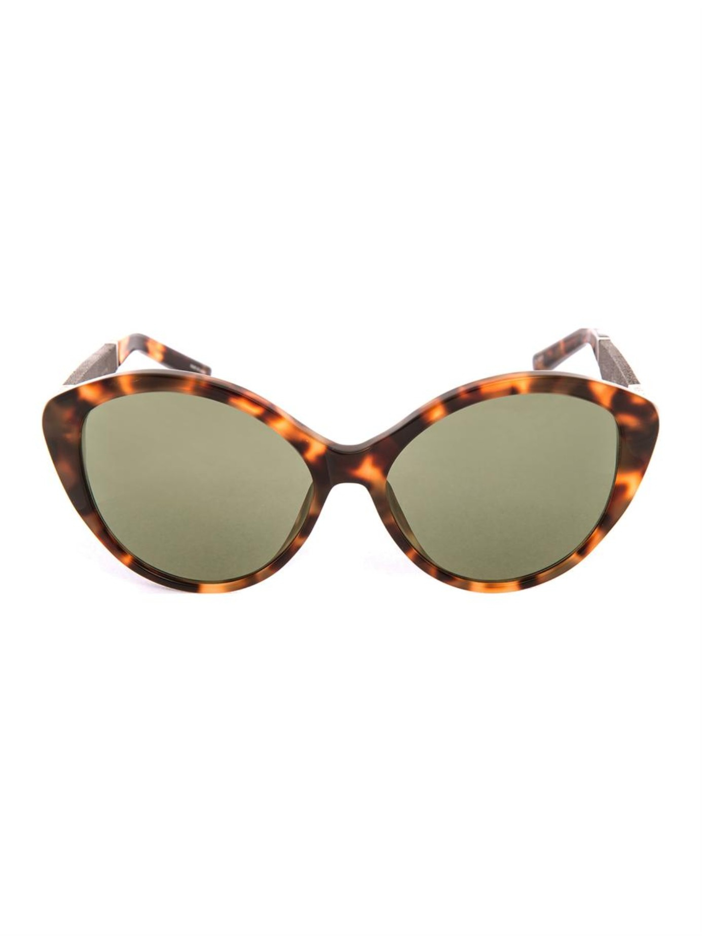 the row cat eye sunglasses in brown lyst