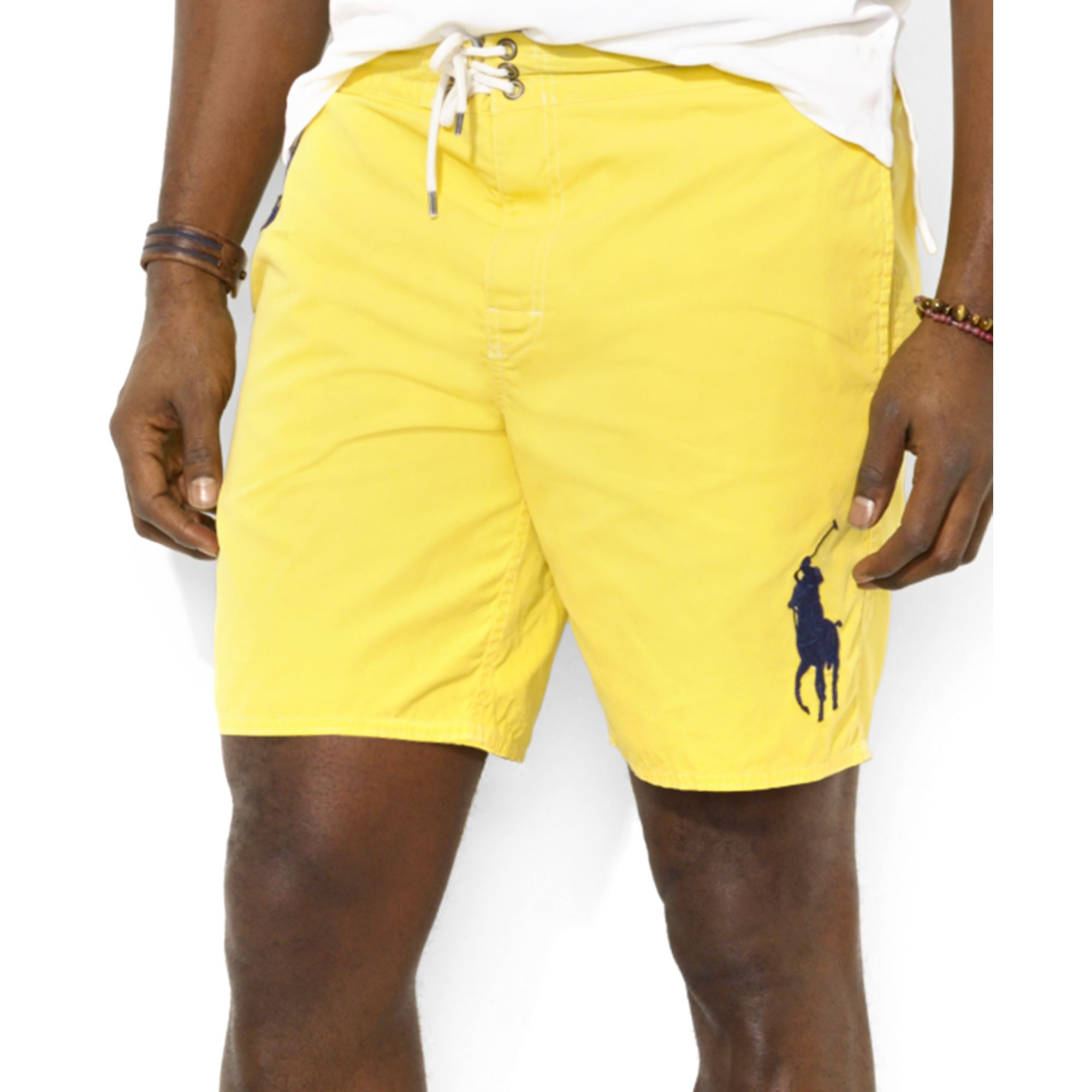 Lyst ralph lauren polo big and tall sanibel swim shorts for Mens swim shirt big and tall