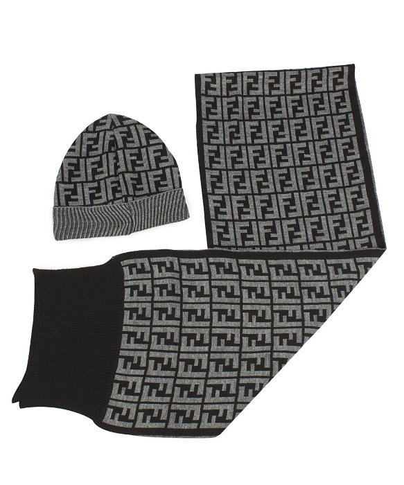 63145834 ... coupon code lyst fendi hat and scarf set in grey in gray for men a36cc  b6101