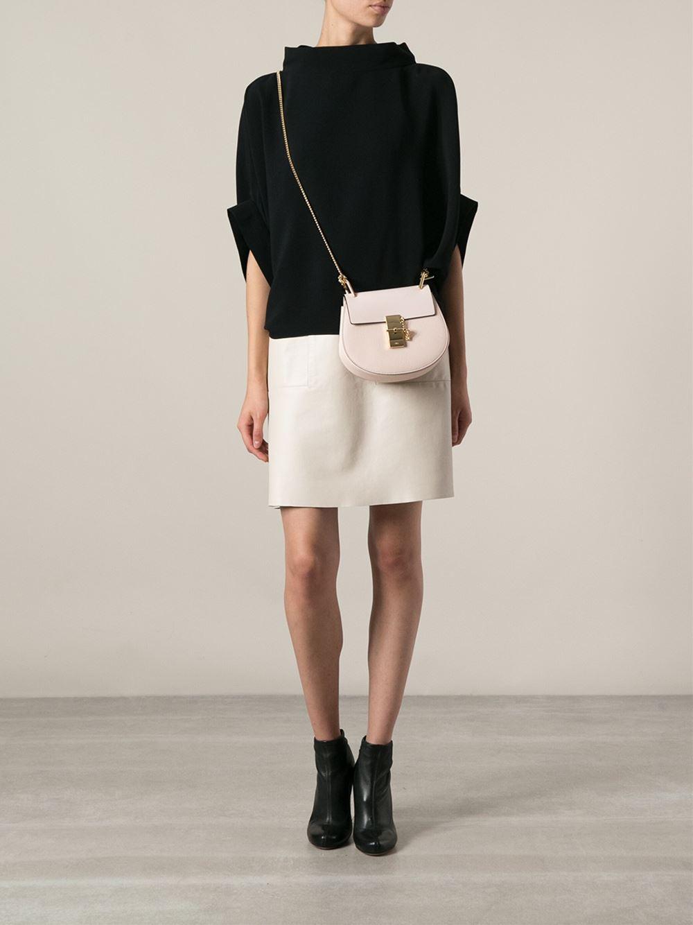 Lyst - Chloé Drew Shoulder Bag in Pink b497a86a59cdf
