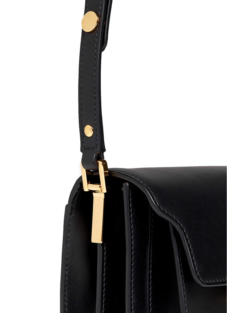 4807686688ac Marni Trunk Mini Accordion Leather Flap Bag In Black Lyst. Chanel Black  Leather Mini Propeller Flap Bag Nextprev Prevnext