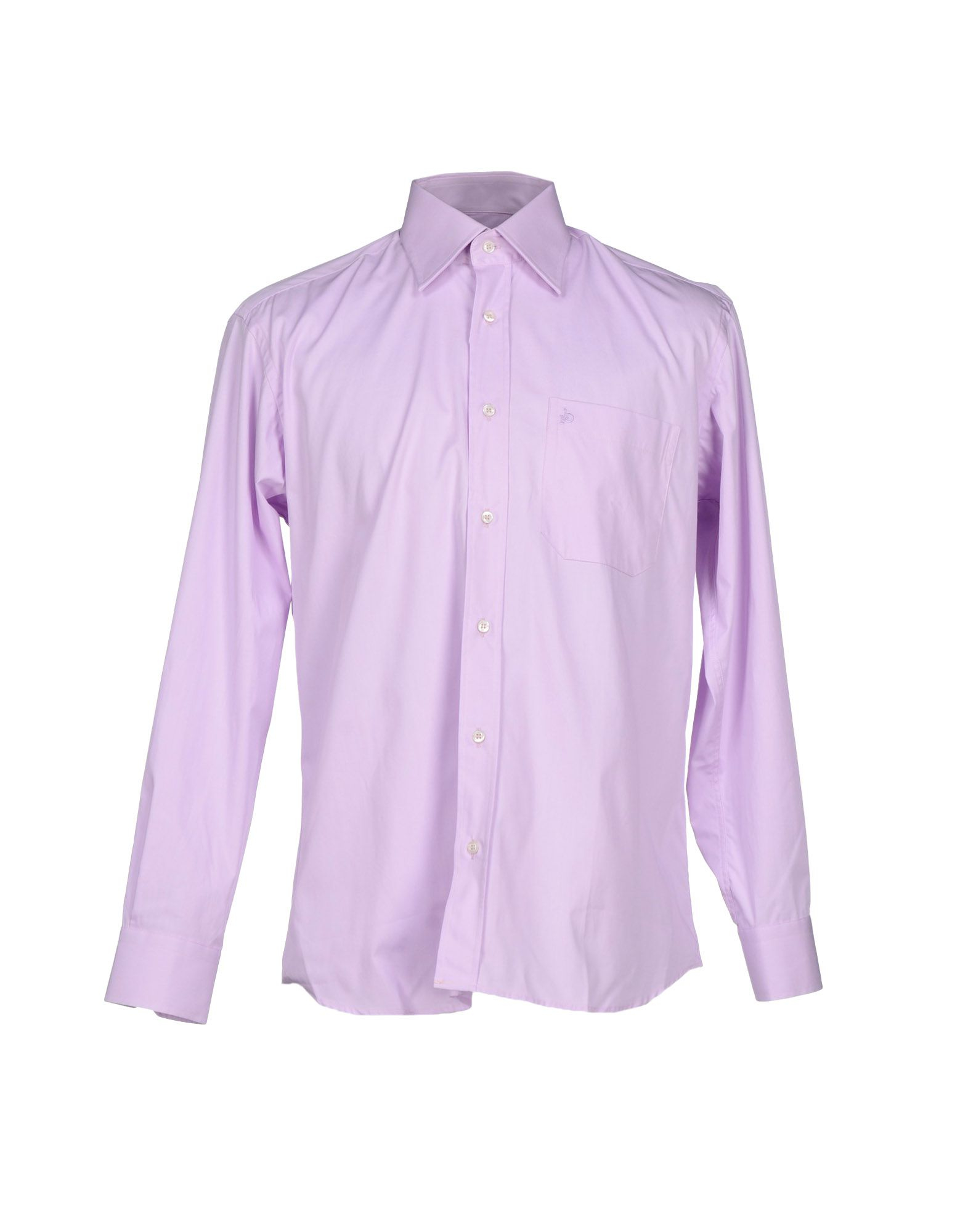 Roccobarocco shirt in purple for men light purple lyst Light purple dress shirt men
