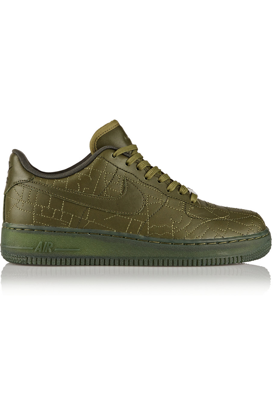 lyst nike 39 air force 1 39 sneakers in green. Black Bedroom Furniture Sets. Home Design Ideas