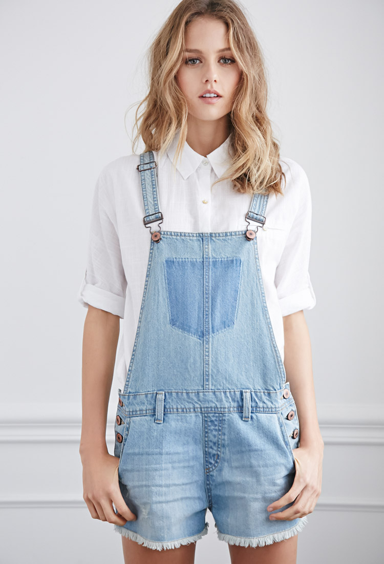 Forever 21 Denim Overall Shorts You've Been Added To The Waitlist ...