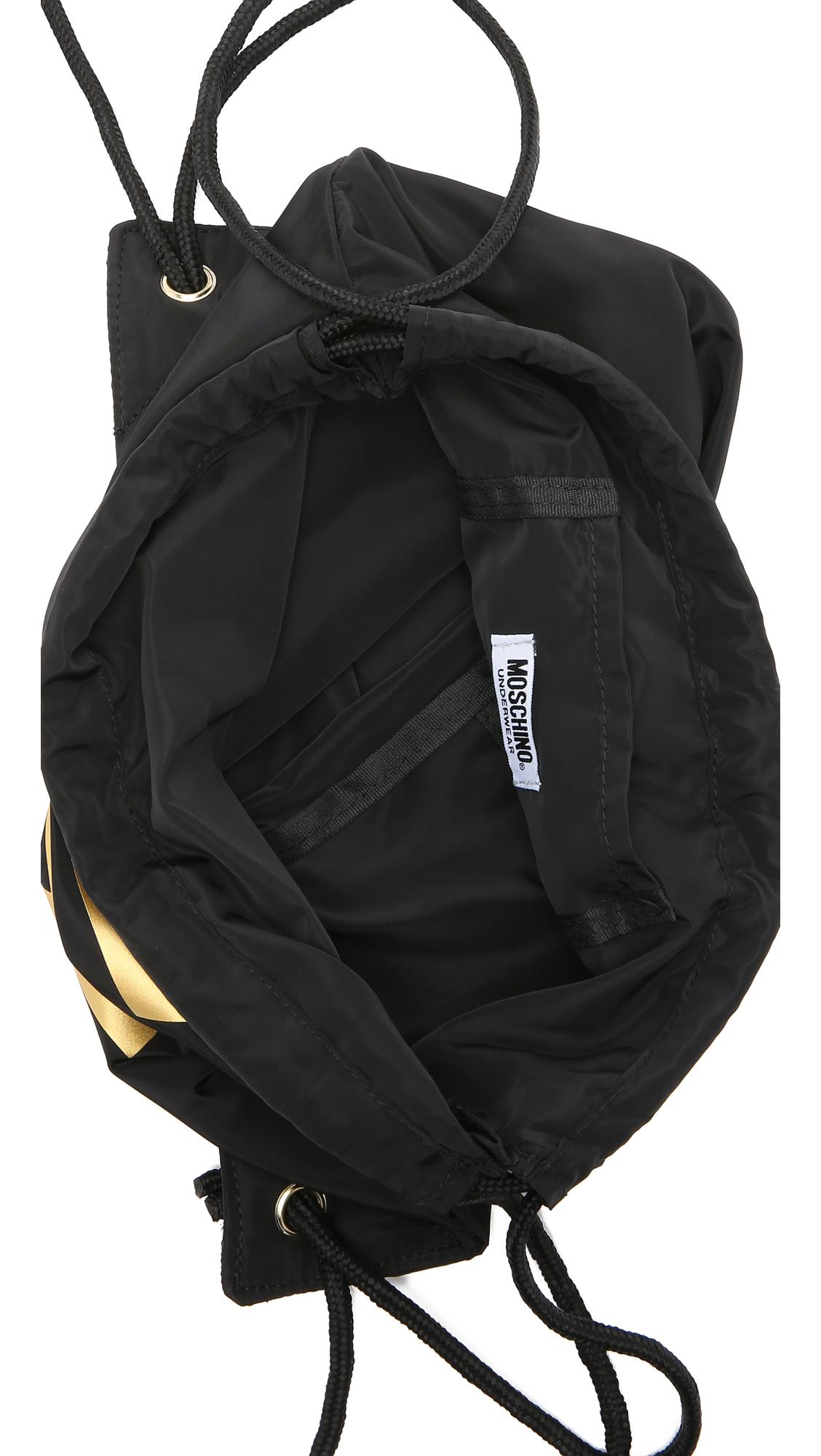 Lyst - Moschino Gym Bag - Black in Black