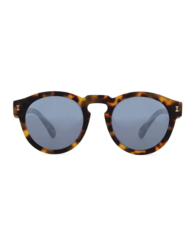 Lyst illesteva leonard mirror round sunglasses for Mirror sunglasses