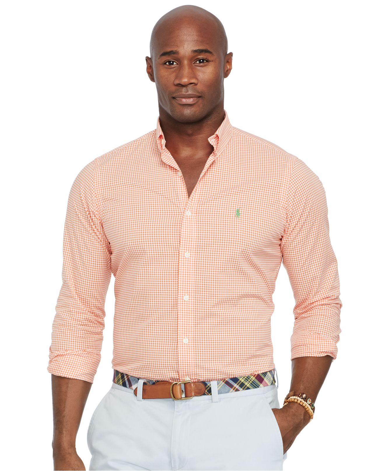 Lyst polo ralph lauren big and tall classic fit poplin for Tall ralph lauren polo shirts