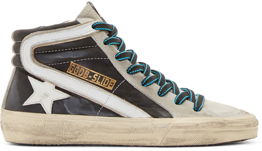 Black and Silver Zebra High-Top Sneakers Golden Goose Outlet Popular SOgQQLJy9A