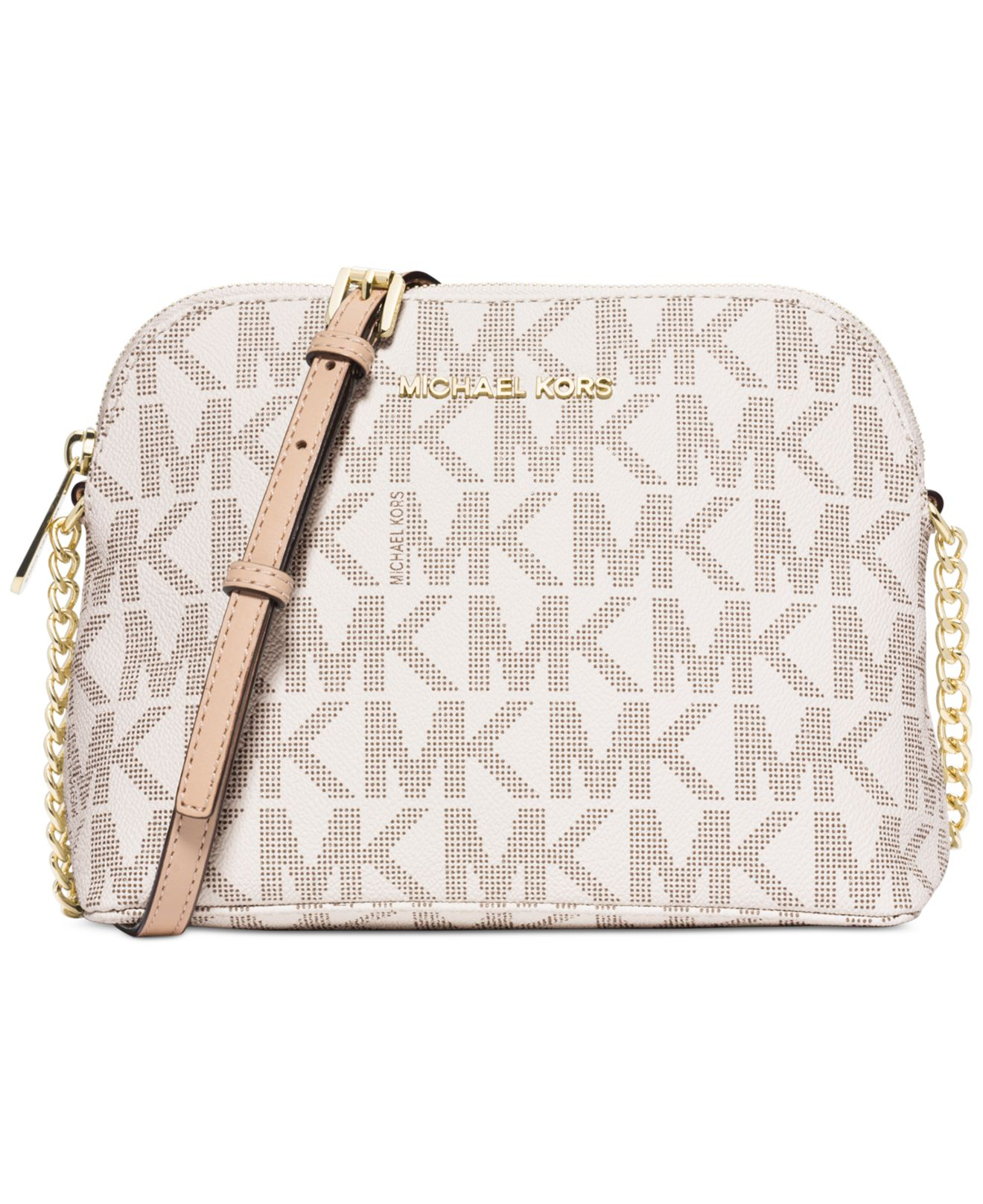 e9cc30040be0e9 switzerland michael michael kors crossbody bags dillards 19961 be4f4; cheap  lyst michael kors michael cindy large dome crossbody in natural ba16b df26a