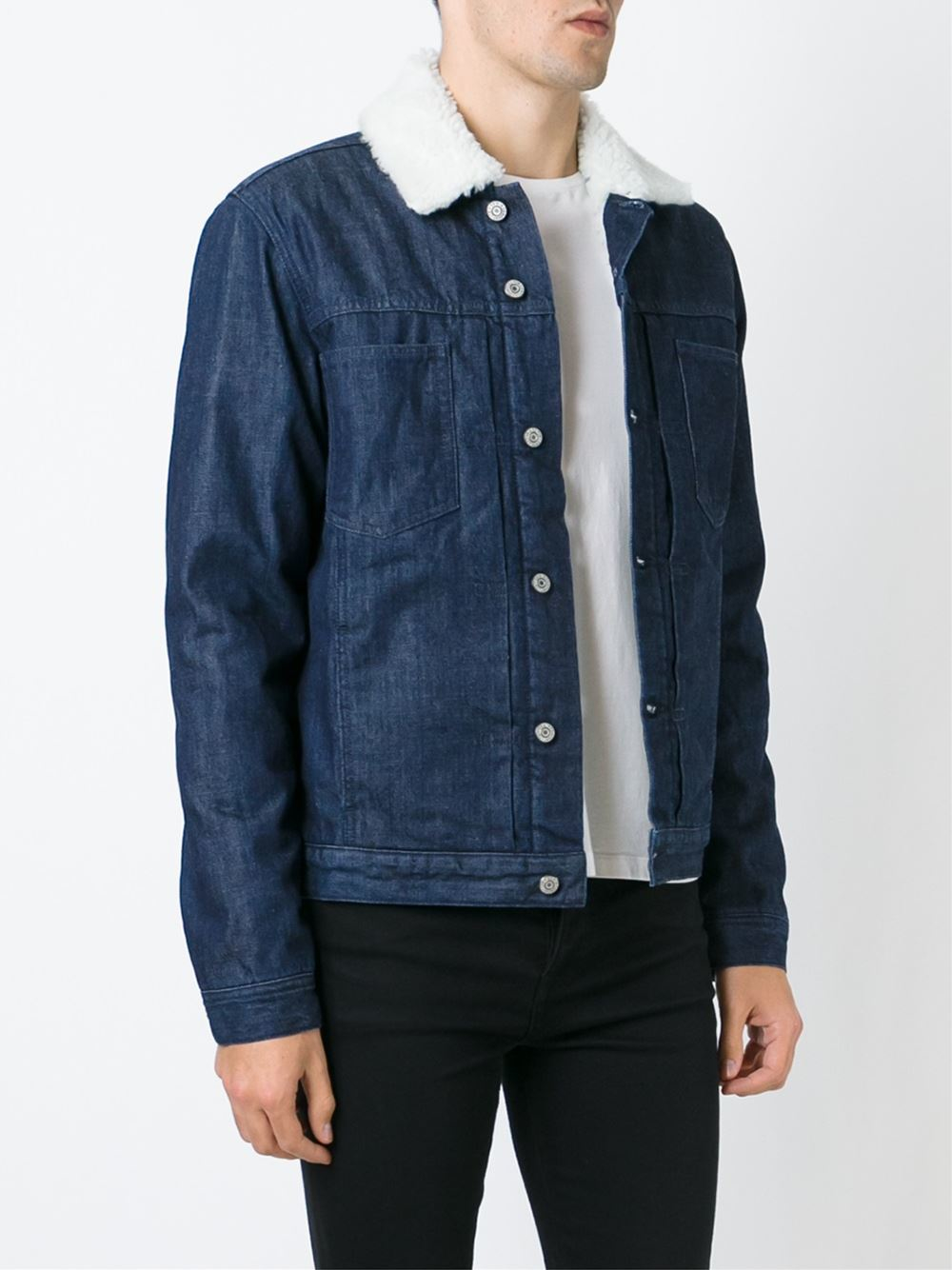 Lyst - Edwin u0026#39;panheadu0026#39; Denim Jacket in Blue for Men