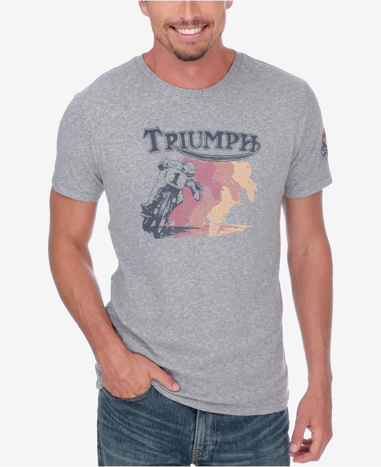 4255549d2 Lucky Brand Men's Retro Triumph T-shirt in Gray for Men - Lyst