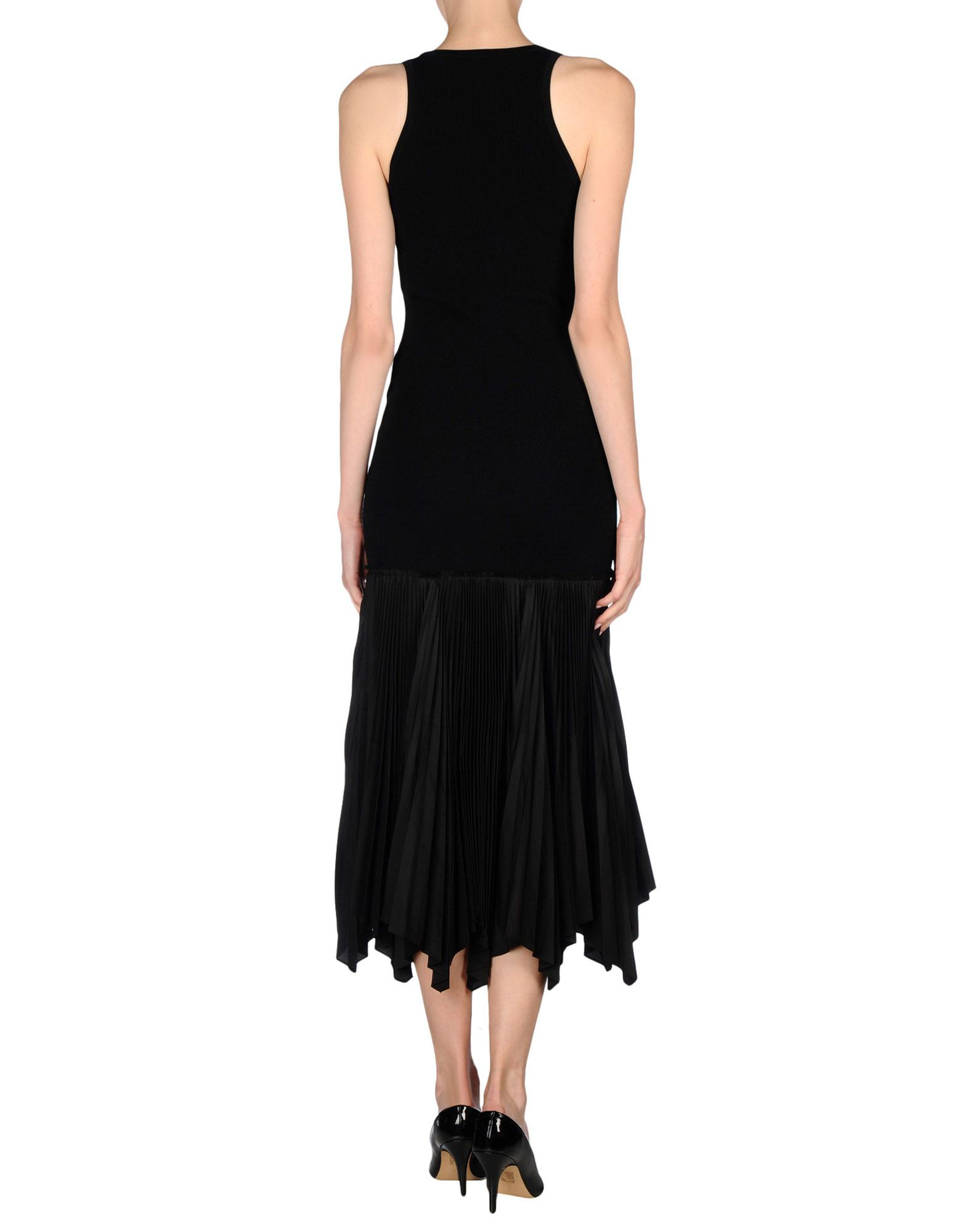10 crosby derek lam 3 4 length dress in black lyst for Derek lam 10 crosby shirt dress
