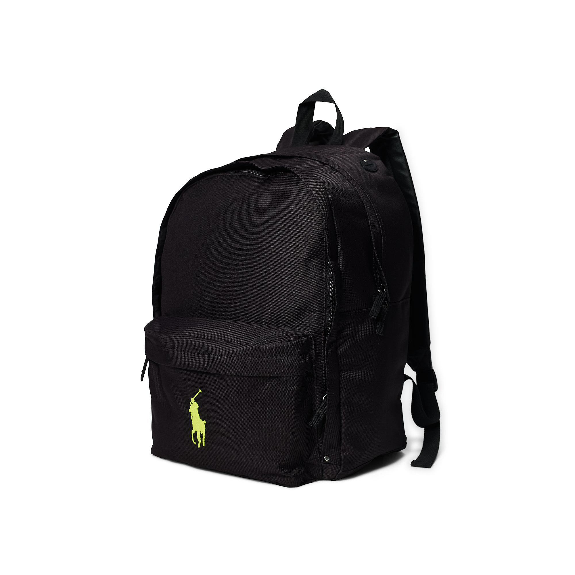 625ed5015e0f7 Lyst - Ralph Lauren Large Big Pony Backpack in Black