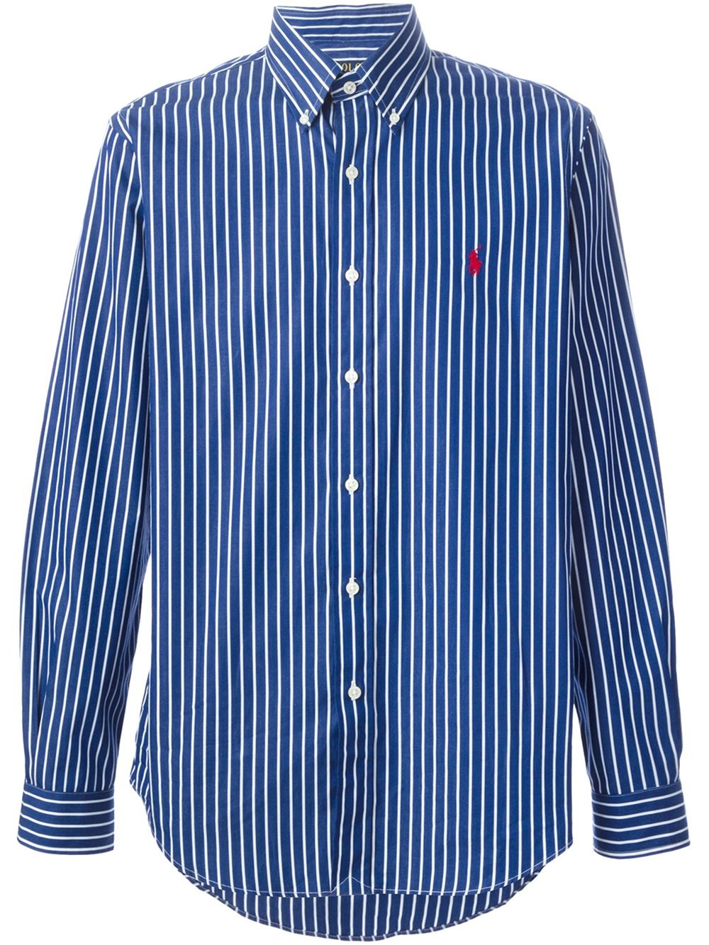 Polo Ralph Lauren Striped Button Down Shirt In Blue For