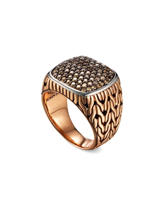 Lyst John Hardy Men S Classic Chain Silver Bronze Ring